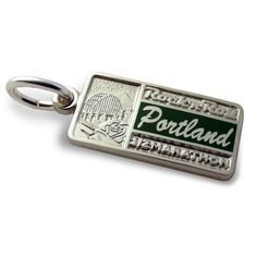 """Be charmed by your run through the """"City of Roses"""". Rock 'n' Roll Portland 1/2 Marathon. Sterling Tour Stop Charm. $30."""