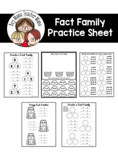 39 All Things NUMBER BONDS and FACT FAMILIES ideas
