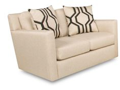 The clean lines and cute accent pillows make this the perfect modern loveseat for any contemporary styled room
