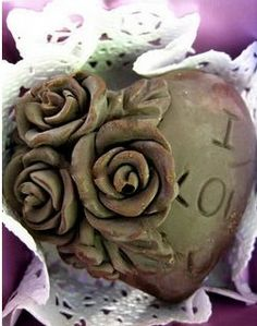 Finished chocolate using a beautiful heart-shaped rose silicone mold. Though Valentine's day was over, you can still make one to the one you love or just as birthday gift. :)