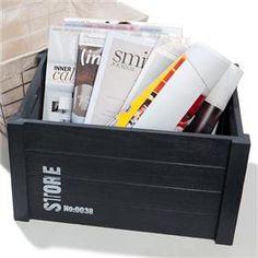 Homemaker Black Wooden Storage Box $12.00 - 26cm (W) x 38cm (H) x 21cm (D) - Home Accessories   Kmart