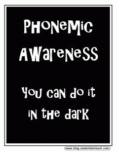 Explanation of the difference between phonological awareness, phonemic awareness and phonics