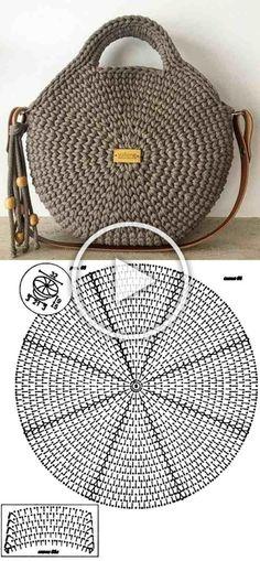 Häkeln Sie Amigurumi-Ente - kostenlose DIY-Anleitung - Kleiner Balkon Ideen Knitting For BeginnersKnitting HatCrochet BlanketCrochet Ideas Free Crochet Bag, Crochet Tote, Crochet Handbags, Crochet Purses, Knit Crochet, Crochet Granny, Crochet Motifs, Crochet Stitches, Crochet Patterns