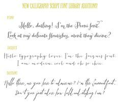 calligraphy fonts, peoni, jacques and saissant