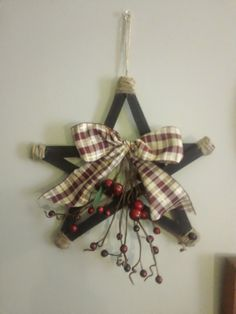 I made this star from paintsticks!  Check out instructions on my blog!