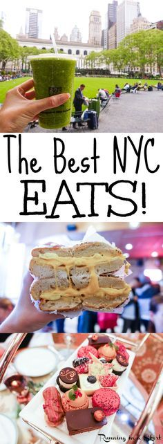 The Best NYC Eats from my trip to New York City!  Fun restaurants, smoothie shops and things to do food wise.  Includes High Tea at The Plaza - bucket list! / Running in a Skirt