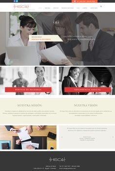 Sitio web para HISCA abogados - Web for lawyer services