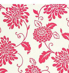 Calico Corners - rosy floral fabric  Campbell magenta  not available