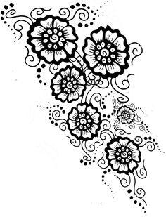 Mehndi Tattoo - Final Design by ShurumiTattoomi -See more stunning Tattoo Design at stylendesigns.com