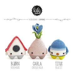 lalylala patron au crochet • 4 seasons: Printemps - Tutoriels de crochet chez Makerist