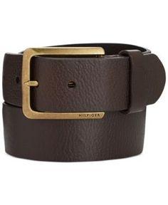Tommy Hilfiger Heavy Brass Buckle Belt - Brown 40 Τιράντες bf9e75bce04