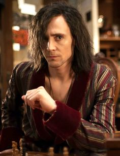 """""""Tom Hiddleston (Only Lovers Left Alive). I was watching 39 Steps with my mom, and browsing Pinterest, and I was just saying """"Oooh she oughtn't have given him her husband's coat"""" and then I saw this picture mid-sentence and it kinda came out 'coa-woah.'"""" <------ best. caption. ever."""