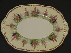 Alfred Meakin  Hollyhock Platter Old Plates, Vintage Plates, Vintage Dishes, Vintage China, Retro Vintage, Alfred Meakin, Vintage Dinnerware, Hollyhock, Dinner Sets