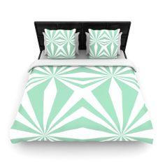 "Project M ""Starburts Mint"" Fleece Duvet Cover | KESS InHouse"