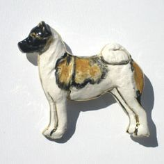 Akita pin. Custom painting available to match your dog's markings for an additional $5.00. http://www.apaw.net/akita.htm