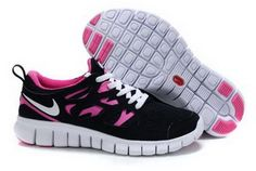 hot sale online 4f0a8 9d6fa nike free run 2 femmes noir rose flash blanc sports chaussures magasin