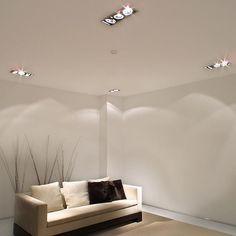 Vista del recibo y del falso techo con iluminaci n asesorialivingdesign interiordesign for Plafones pared originales