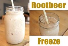 Rootbeer Freeze Made With Homemade Sweetened Condensed Milk!