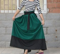 cute long two colored skirt, must find a pattern or tutorial