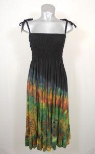 8dd51cb88c1 Hippy Dress~Bohemian Black Multi-Coloured Flower Print Dress Long Sleeve  Winter Hippy Dress~Fair Trade by Folio Gothic Hippy LL26