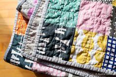 Blue is Bleu: Lotta Jansdotter Patchwork Baby Quilt