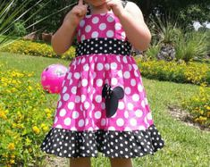 Minnie Mouse Dress Custom Boutique Clothing Med Red by amacim Red Peekaboo, Baby Ruffle Romper, Minnie Mouse, Sassy Girl, Long Tee, Jumper Dress, Baby Patterns, 6 Years, Boutique Clothing