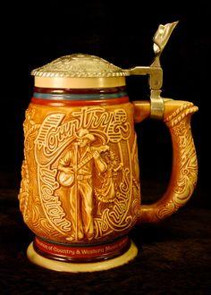 Vintage Avon Beer Stein with Country & Western Music Novelty Scene