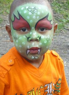 Face Painting Dragon Face Boy