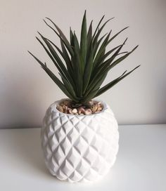 How For Making Your Landscape Search Excellent Artificial Succulent In A White Pineapple Pot Owl Bathroom Decor, Bathroom Stuff, Downstairs Bathroom, Bathroom Inspo, Pineapple Centerpiece, Wall Decor Amazon, Herb Garden Kit, Pineapple Kitchen, Fake Plants Decor