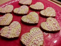 Henna Heart Cookies. Great for Valentine's Day, Bridal Showers, Wedding favors, or just because....!