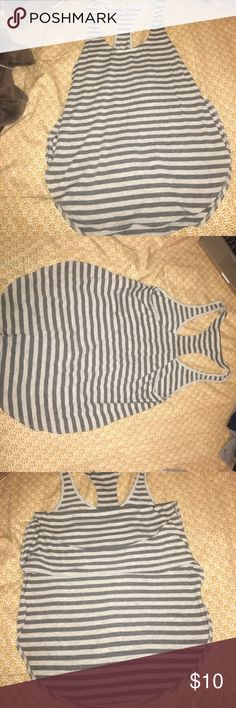 Grey striped Express Casual Tank Grey striped casual Express tank. Never wore since it was too big for me. Open to offers Express Tops Tank Tops