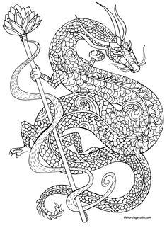 Dragon Whips Its Tail coloring page