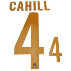Australia 2014/15 Cahill #4 Adult Away Name Set
