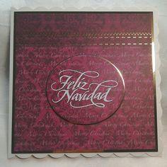 Kanban card & Feliz Navidad stamp - by Lynne Lee