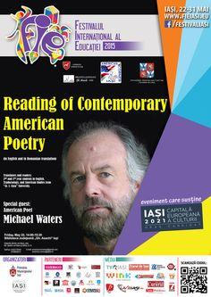 Poetul american Michael Waters, invitat special la un eveniment în cadrul FIE 2015