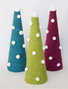 Yarnspirations.com - Bernat Christmas Trees  - Patterns  | Yarnspirations | yarn craft | DIY | Christmas