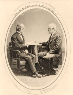 Six months before his death, Robert E. Lee meets with Joseph Johnston in Savannah. It was the first time the two generals had seen each other since the end of the Civil War.