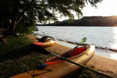 Sunsetting off of Alger Island Campground - NYSDEC Campgrounds
