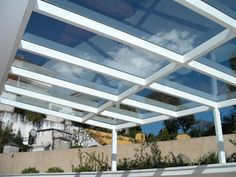 Glass pergola There are several points that can certainly as a final point total ones Black Pergola, Metal Pergola, Deck With Pergola, Backyard Pergola, Pergola Shade, Pergola Plans, Pergola Ideas, Gazebo, Timber Roof