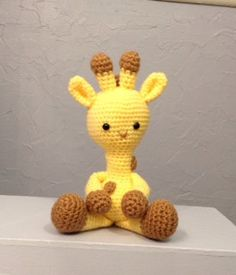 Giraffe  Stuffed Animal  Amigurumi  crocheted toy by meddywv, $30.00