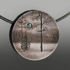 Wolfgang Vaatz pendant with crystal moon in a forest...pinned by ♥ wootandhammy.com, thoughtful jewelry.