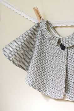 Baby or Toddler Cape  Vintage style tweed capelet by wovenshop, $25.00