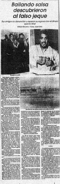 Descubierto el falso jeque. Publicado el 4 de septiembre de 1982.
