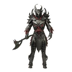 The warriors of Skyrim are now Legacy figures! The powerful Daedric Warrior wears heavy armor crafted of ebony ingots and Daedra hearts! Approximately 6&quo...