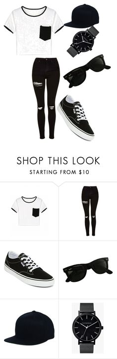 """yep I'd wear it"" by potterkateri ❤ liked on Polyvore featuring Topshop, Vans, Ray-Ban and The Horse"