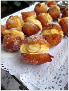 Mexican Food Recipes, Sweet Recipes, Dessert Recipes, Spanish Desserts, Chilean Recipes, Profiteroles, Pan Dulce, Sweet Bread, I Foods