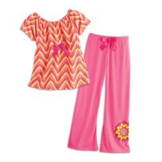 Zigzag Pajamas for Girls | julieworld | American Girl