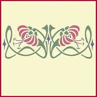 ART NOUVEAU BORDER 1 STENCIL - The Artful Stencil