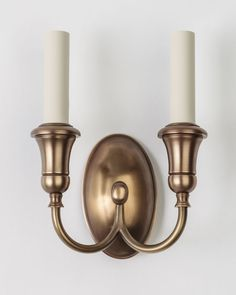 """Dora Twin Sconce (is1039.2)   Remains.com Overall: 9-3/4"""" h. x 7"""" w. x 3-1/2"""" d. Backplate: 5-1/2"""" h. x 3-1/4"""" w."""