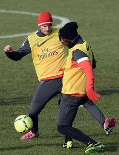 David Beckham a participé à son premier entraînement avec le Paris Saint-Germain - leParisien.fr